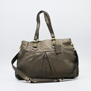 COACH Ashley Leather Convertible Satchel Handbag